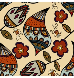 Flower seamless pattern full color vector image
