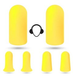 Safety foam ear plugs vector