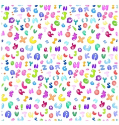 Bubble abc pattern vector