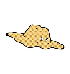 Comic cartoon old australian hat vector
