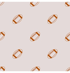 Seamless pattern football over vector