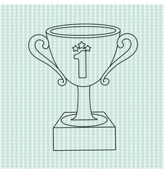 Trophy icon design vector