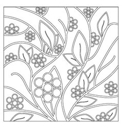 Floral and decorative background for coloring vector