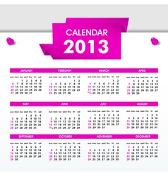 calendar for 2013 vector image