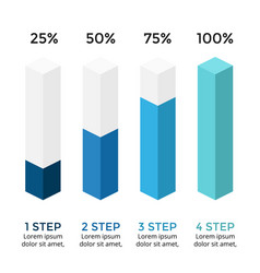 arrows infographic diagram chart 3d vector image vector image