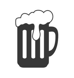 Beer mug with foam vector