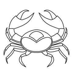 Big crab icon outline style vector image vector image