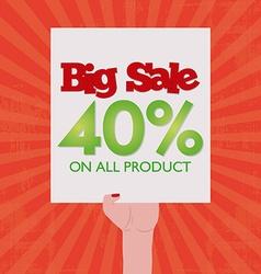 Big sales vector image