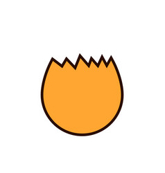 Broken egg icon flat of broken egg vector
