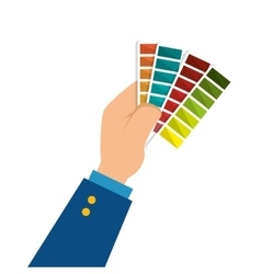 Colors pallette cards icon vector