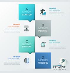 Creative infographic design template vector