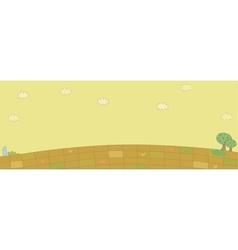 Cute Village Landscape vector image vector image
