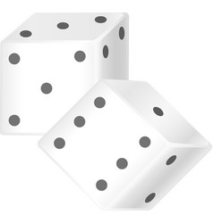 dice cubes vector image