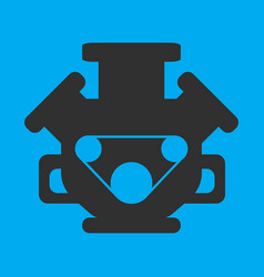 Engine icon on background vector