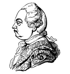 Frederic lord north earl of guilford vintage vector