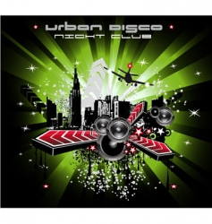 grunge urban city background vector image