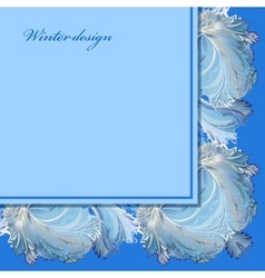 Horizontal angle border design winter frozen vector