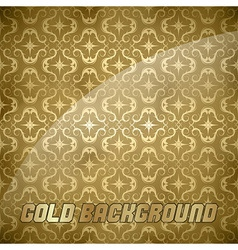ornaments background gold vector image vector image