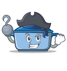 Pirate kitchen character cartoon style vector
