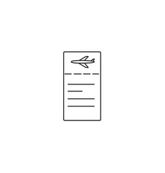 Plane ticket linear icon vector