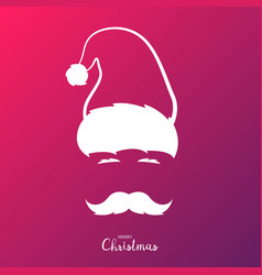 santa claus with mustache merry vector image