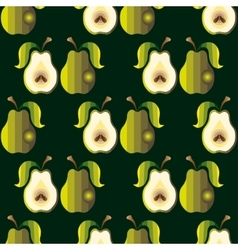Seamless background with pears vector image vector image
