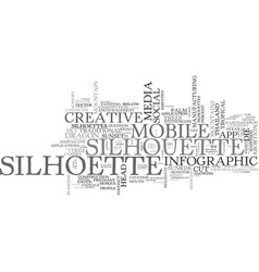 Silhoette word cloud concept vector