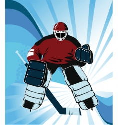 super goalkeeper vector image