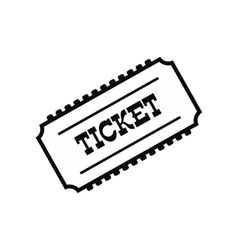 Train ticket icon vector image