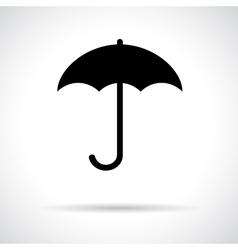 Umbrella Black flat icon with shadow vector image