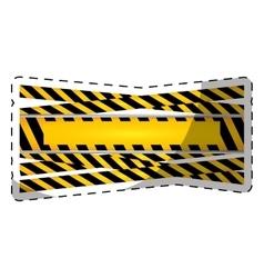 Under construction tape blank emblem image vector