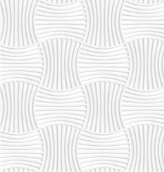 White paper 3d five striped wavy pin will vector