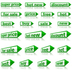 Retail arrow labels vector