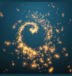 Abstract swirl of glowing particles vector