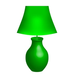 green lamp vector image