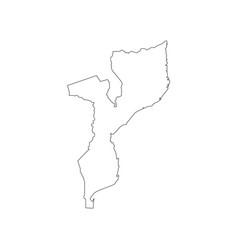 Mozambique map silhouette vector