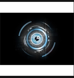 Technological abstract retina scanning concept vector