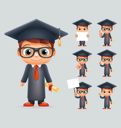 Graduation cap excellent diploma certificate vector