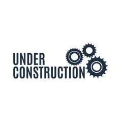 Simple under construction icon vector image
