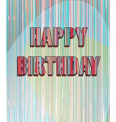 Colorful birthday card vector