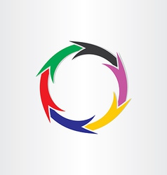 color arrows in circle motion concept vector image