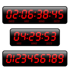 Countdown timer vector