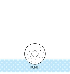 Donut icon sweet doughnuts sign vector