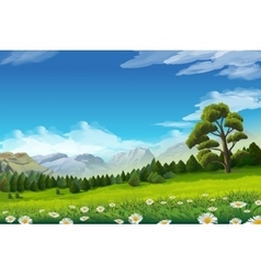 Spring landscape background vector