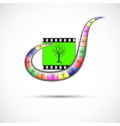 Icon of tape for video in color vector