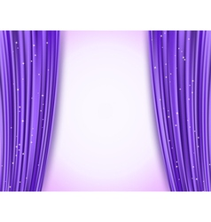 Violet theater curtains vector