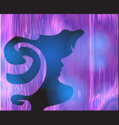 Abstract girl psychedelic style background lucid vector
