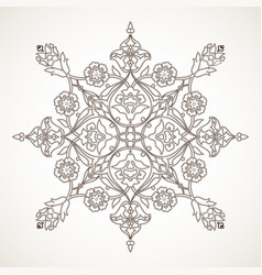 arabesque vintage outline floral decoration print vector image vector image