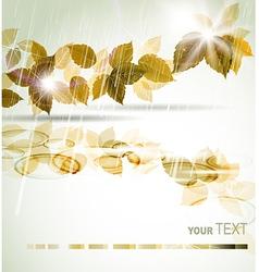 Autumn rain vector