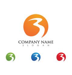 B lletter wave logo template vector